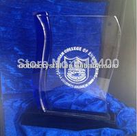 high quality crsytal plaque award crystal custom trophy
