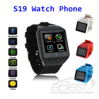 """S19 Bluetooth Smart Watch Phone 1.54"""" Touch Screen  Smartphones 2.0M Camera SIM Sync with smart phone GSM GPS free shipping"""