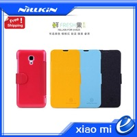 Original Xiaomi Redmi Note M2A  Leather Case NILLKIN Super Frosted Shield Case for Xiaomi MI3 Hongmi Note