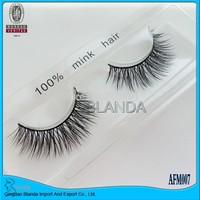 UPS Free Shipping 40Pair/Lot Thick False Eyelashes make up Mink Eyelash Lashes Voluminous Makeup AFM003 Tail Winged