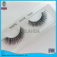 UPS Free Shipping Hot Sale! 100% Handmade 100 Pairs/lot Thick Long False Eyelashes Mink Eyelash Eye Lashes Voluminous Makeup