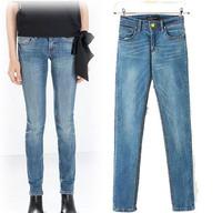 Women Washed Denim Pencil Jeans Ladies'Casual Slim Skinny Denim Pants  Plus Size Spring Autumn Denim Pants