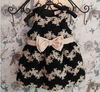 Girls woolen bow dress, kids dress,5pcs/lot   ZQQ06