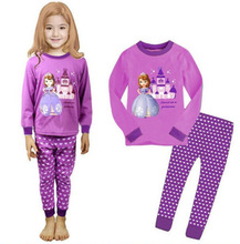 Princess Baby Kids Girls Nightwear Pajamas Sleepwear Set Age 1 8Y