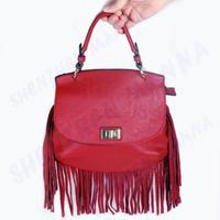 30PCS FREE SHIPPING New High Quality Manna Tassel PU Leather bags Women Cross-body Messenger bags Handbag #MHB007