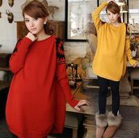 New 2014 Pregnant Women Fashion Long Sleeve Basic Tops/Tees Maternity Loose fashion women sweater coat FF317