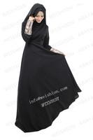 STOCK  new style islamic clothing for women hijab abaya black arabic dress