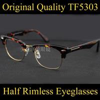 Hot Sale Optical Eyeglasses Half Frame TF5303 Eye Glasses Frames 2 Color Oculos De Grau Femininos Masculino Gafas Eyewear