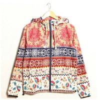 2014 autumn spring vintage floral jacket men jacket Chinese style folder Slim casual hooded zipper jacket Free shipping
