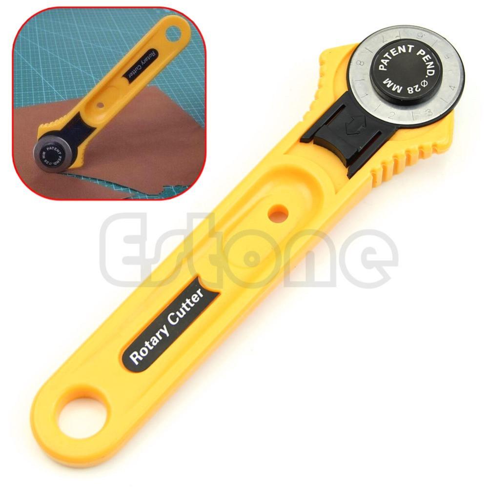 frete grátis 28mm circular corte amarelo cortador giratório lâmina patch