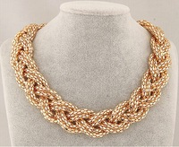 2015 Womens Vintage Jewelry Charms Chokers Trendy Statement Gold Necklace Big Snake Chain Pendant Accessories Z&E2116