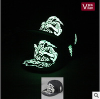 Free shipping Fashion night light hip hop stage show caps death cartoon style hat