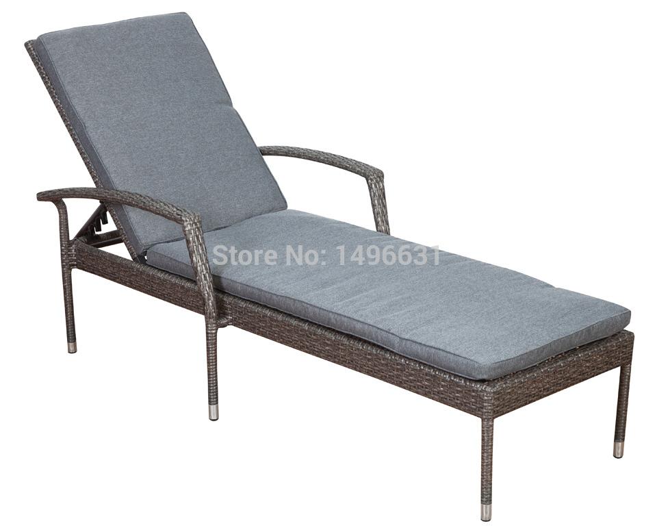 Pacific Sun Lounge Chaise 2015 New Design Garden Furniture PE Wicker Rattan Outdoor Furniture(China (Mainland))