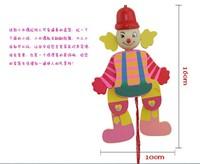 Children, cute cartoon big ears marionette clown man