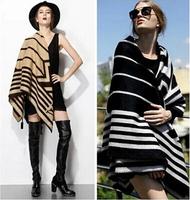 100% Cashmere Cape Geometric Brand Scarf Women Thick Winter Pashmina Fashion New Scarf Free Shipping