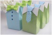 New Arrival Cute Boy Favor Box 100PCS/LOTwedding favor box baby shower party  candy box cupcake cake box