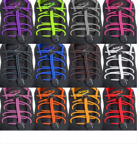 Locking Shoe Lacing Elastic Shoelaces Running/Jogging/Triathlon/Sports Hot sale(China (Mainland))