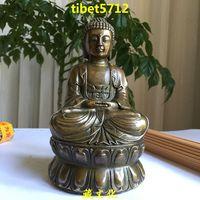 """14 cm tall Tibetan Buddhist bronze amitabha buddha statue 5 """" tall"""