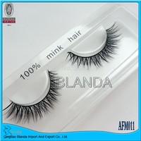 UPS Free shipping 100% Real Mink lashes Strip Lashes 100pair/lot thick False eyelashes mink eye lashes extensions