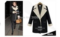 European Grand Prix 2014 new winter fat MM Slim ladies wool coat lapel