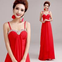 2014 Red evening dress long design formal dress  A3260#