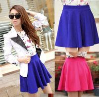 Free shipping!!! New 2014 Short Skirt Spring Summer Sun Pleated Skirt Tall Waist Y321