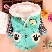 3pc/lot baby coats boys clothing winter children jackets kids velvet thicken outerwear panda PANYA DZJ60