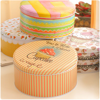 Free Shipping!3PCS/LOT Handmade Candy Can Metal Cookies Container Iron Biscuit Tin Home storage box Snack box  Large Gift Box