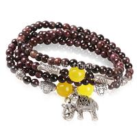 Fashion nature stone strand bracelets for women charm elephant design jewelry brand wholesale
