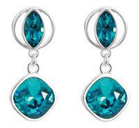 Sumao Women's Lead Free Stud Earrings Blue