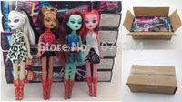 Hot Sale Girls Popular Monster.high Monster High Gift 4Pcs/lot Monster Hight Children Kids Best Christmas Gift