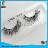UPS Free Shipping 50pair/lot 100% Real Mink Fur False Eyelashes - Individual Mink Eyelashes Extensions Handmade AFM002