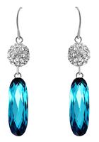 Sumao Women's Wedding Stud Earrings Blue
