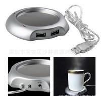 DC-03 Free Shipping New USB 4 Ports heat preservation cup mat warm dish mini heat pad coaster for coffe cup demi-tasse