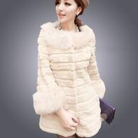 2014 New Arrived Women's Fashion Faux Fur Coat Women's Cardigans Winter Women Faux Fur Outerwear Coat Plus Size