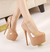 women pumps 2014 new arrival 16cm high-heeled pump shoes thin heels platform women shoes high heel pumps lady party shoes