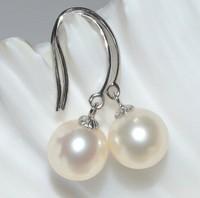 ladies luxurious pearl earrings 100% freshwater pearls drop earrings