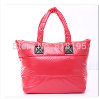 2014 new women's handbag portable one shoulder big  cotton-padded  tote messenger bag free shipping