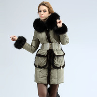 Thick fashion royal for cat mink hair front fly great luxury medium-long female fur collar down