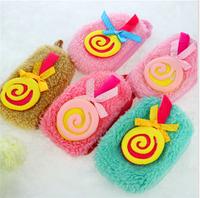 Fashion candy color thermal 100% cotton masks antimist cartoon lollipop plush child masks