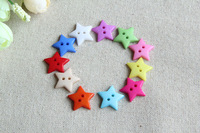 20MM Mix color Packing star  Design  Buttons Small star  Buckle  Mini Resin Buttons color random delivery 100PCS/BAG   NK9