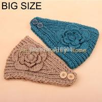 wholesale 10pcs/lot headbands for women big szie flower headband crochet headband knitted head bands hair accessories