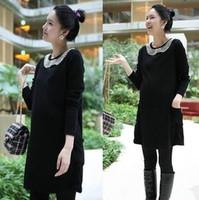 2014 maternity clothing Han edition handmade beaded fashion loose women knitting a sweater dress FF322