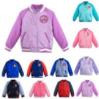 In stock Children Cartoon Jackets Outerwear Girl& Boy  Mickey & Minnie Spider-man Jackets Coats zipper 3-10 age Kids Clothing