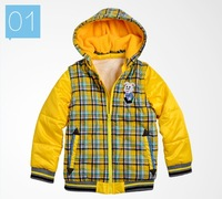 Girls Outerwear & Coats Children Down & Parkas with Hooded Faux Fur White Duck Down Geometric Print 2014 New Baby & kids Coat