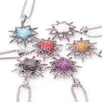 Wholesales Cheap necklaces women gift Sunflower pendant necklaces