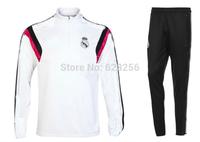 Camisetas de Futbol Real Madrid Training Suit 2015 maillot de foot 14 15 Spain Real-Madrid Survetement Football Tracksuit