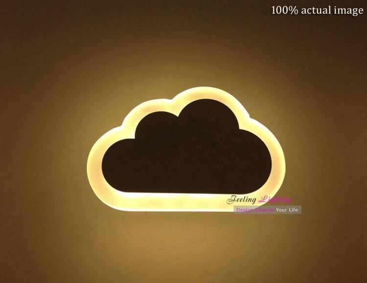 Versandkostenfrei allen der Welt klassischen einfachen modernen stil weiß acryl+aluminum wandleuchte led Wolken wandleuchte weiß