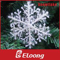 Eloong 3pcs15cm White Plastic Christmas Snowflake for Xmas Tree  House Window Showcase Party Decoration H006