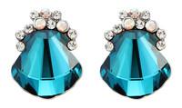 Sumao Women's Daily Stud Earrings Blue